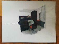 Croquis + Plan Architecture Intérieure Atelier d'un Graphiste Ecole Duperré 60's