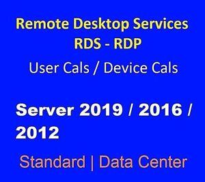 Terminal License 50 User/Device Sv 2019 2016 2012r2 Std Dtc Ess Dvd
