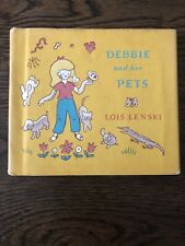 Lois Lenski-Debbie and her Pets HBDJ 1971 Very Good + First Edition, RARE