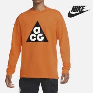 Nike ACG Men's Long-Sleeve Heavyweight Cotton Shirt Clay Orange size Large L