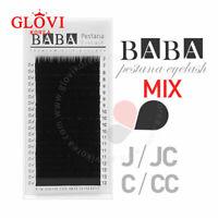 BABA Silk Lash Mixed Tray (0.15 J/B/C/D 7~13mm) / False Eyelashes / Extension