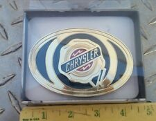 CHRYSLER LOGO GOLD WESTERN COLLECTIBLE PEWTER BELT BUCKLE SPECCAST NEW DODGE RAM