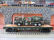 O GAUGE LIMITED EDITION ARMY FLATCAR W/ TRUCK AND HIMARS LIONEL MTH MENARDS