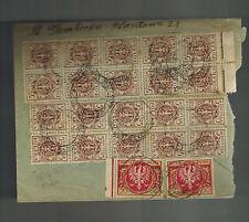 1923 Szczuczyn Poland  Inflation Cover to Bad Homburg Germany
