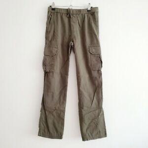 Primary Size 11 The Cargo Green Khaki Drawstring Cotton Pants Play Condition