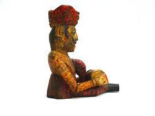 Holzfigur Indien Musiker Tabla Trommel Handarbeit bemalt vintage Holz Dholak alt