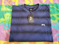 STUSSY OMBRE LONG SLEEVE CREW TSHIRT NAVY SIZE 2XL NEW WITH TAGS