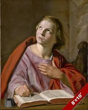 APOSTLE SAINT JOHN THE EVANGELIST PAINTING CHRISTIAN BIBLE ART REAL CANVAS PRINT