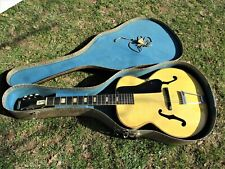 Stewart Harmony Archtop Guitar, 1960'S, Blond, Case, Very Cool