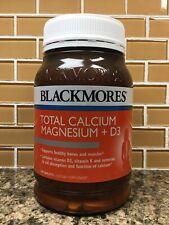 Blackmores Total Calcium Magnesium + D3. 200 Tablets Expires: 08/04/2019