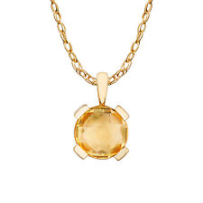 10k Yellow Gold Round Pendant Necklace