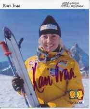 Kari traa nor ski freestyle 1.os 2002 autografiada mapa original firmado 384835