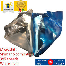 MICROSHIFT Road Bike Shifters For Shimano 3x9 speed WHITE NEW!