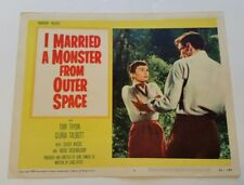 I MARRIED A MONSTER FROM OUTER SPACE 1958 Original Sc-Fi Movie Lobby Card Horror