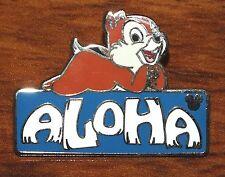 """Disney Hidden Mickey Chipmunk """"Aloha"""" Blue 2009 Official Trading Pin / Brooch!"""