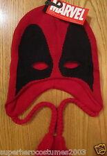 Deadpool Wade Wilson X-Men Winter Laplander Adult Ski Hat Marvel Comics New