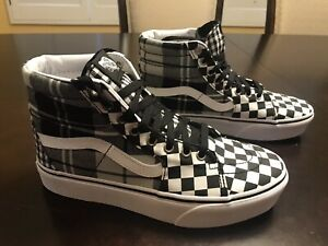 New Vans Skateboard Checkered SK8 High Top Sneaker Shoes Size US 7.5