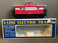 K-Line K619103 Telemecanique ILLUMINATED Caboose O Ga Model Train Railroad RR