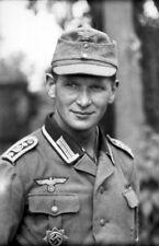 WWII B&W Photo German Soldier Portrait Grossdeutschland Division WW2 / 2309  NEW