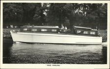 TUCK Motor Cruiser Power Boat Yacht Real Photo Postcard Series MAID MARLENE