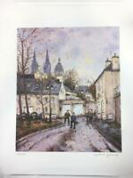 Jean-Pierre Dubord Listed Artist Signed Lithograph Europe In Autumn