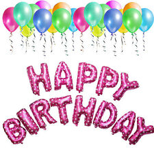 """""""Happy Birthday"""" Foil Alphabet Letters Words Balloons Party Balloons 