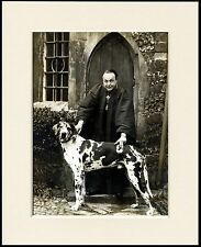 GREAT DANE PRIEST AND HIS DOG LOVELY PRINT MOUNTED READY TO FRAME