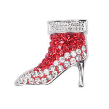 Clay Rhinestone high-heeled shoes Chunk Snap Button fit for Noosa Necklace Q-215
