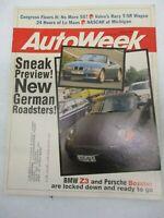 AUTO WEEK MAGAZINE JUNE 26, 1995 BMW Z3 PORSCHE BOXTER VOLVO T-5R WAGON CAR
