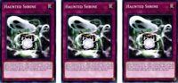 3 x Haunted Shrine  SR07 EN035  Common 1st Ed  YuGiOh Card