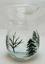Yankee Candle Winter Trees Snow Clear Glass Wax Tart Warmer Tealight Candles