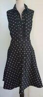 CITY CHIC Black/White Spot Dress Size XL