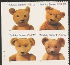 USA**TEDDY BEAR-PLATE BLOCK 4stamps- Sc# 3656a-MNH BEER-OURSON-BAER-MNH
