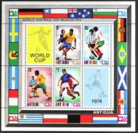 AT053 ANTIGUA 1974 Soccer, Worldcup Munich S/S Mint NH