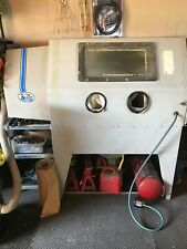 sandblast cabinet, air compressor ,buffer and assorted extras