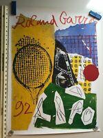 ORIGINAL ROLAND GARROS TENNIS ART PRINT - 1992 by Jan Voss