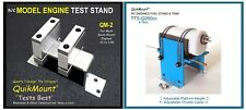R/C ENGINE TEST STAND COMBO BLUE QuikMount QM-2 for Model Engines .10 to 1.08
