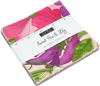 """Sweet Pea & Lily Moda Charm Pack 42 100% Cotton 5"""" Precut Fabric Quilt Squares"""