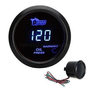"""Hot 2"""" 52mm BLUE DIGITAL LED 0-120 PSI OIL PRESSURE PRESS GAUGE FOR CAR"""
