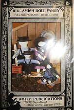 "Amish Doll Family Sewing Pattern 12"" 8"" 5.5"" Dolls by Suzy Lawson"