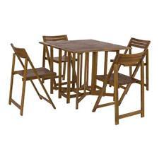 BIZZOTTO Set Foldy tavolo con 4 sedie pieghevoli struttura in acacia