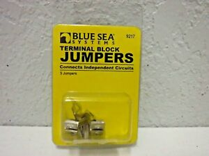 Blue Sea Systems Nickle Plated Brass Terminal Black Jumpers  # 9217 (5 Jumpers)