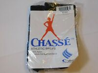Chasse' Athletic Briefs C-Dri Nylon BR100 Black M Adult Medium Brief NIP --
