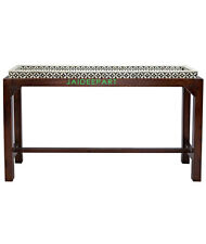 Handmade Bone Inlay Tray Console Table