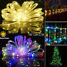 Solar 200LED Rope Strip Tube String Fairy Lights Strip Waterproof Garden Outdoor