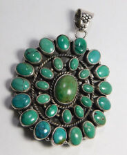 Natural Tibetan Turquoise Pendant 925 Sterling Silver Jewelry MAP1001