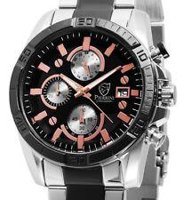 Herrenuhr Armbanduhr Chronograph Schwarz Silber Edelstahl 291021200010 PIERRINI