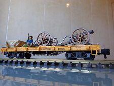 LGB 45600 Colorado & Southern 1088 long flatcar customized PLAYMOBIL cannons