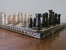 BRAND NEW♚   LUXURY HAND CARVED WOODEN CHESS SET 56cmx56cm ♞