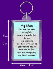 Man In My Life Verse Keyring - Birthday - Boyfriend - I Love You Keepsake Gift